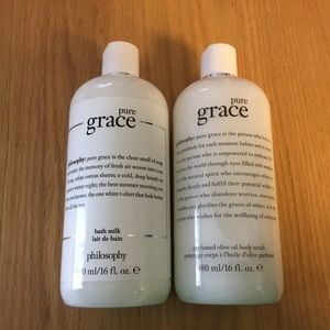 Philosophy Pure Grace bath and body products
